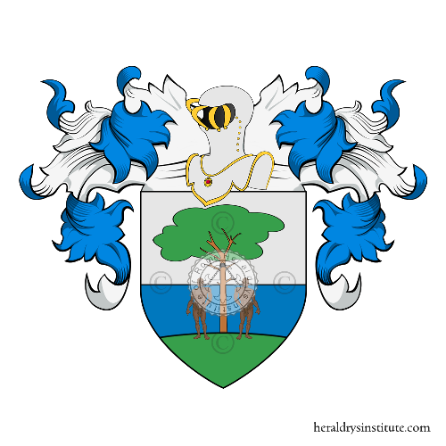 Coat of Arms of family Schiavo (lo) o Schiavi (di)