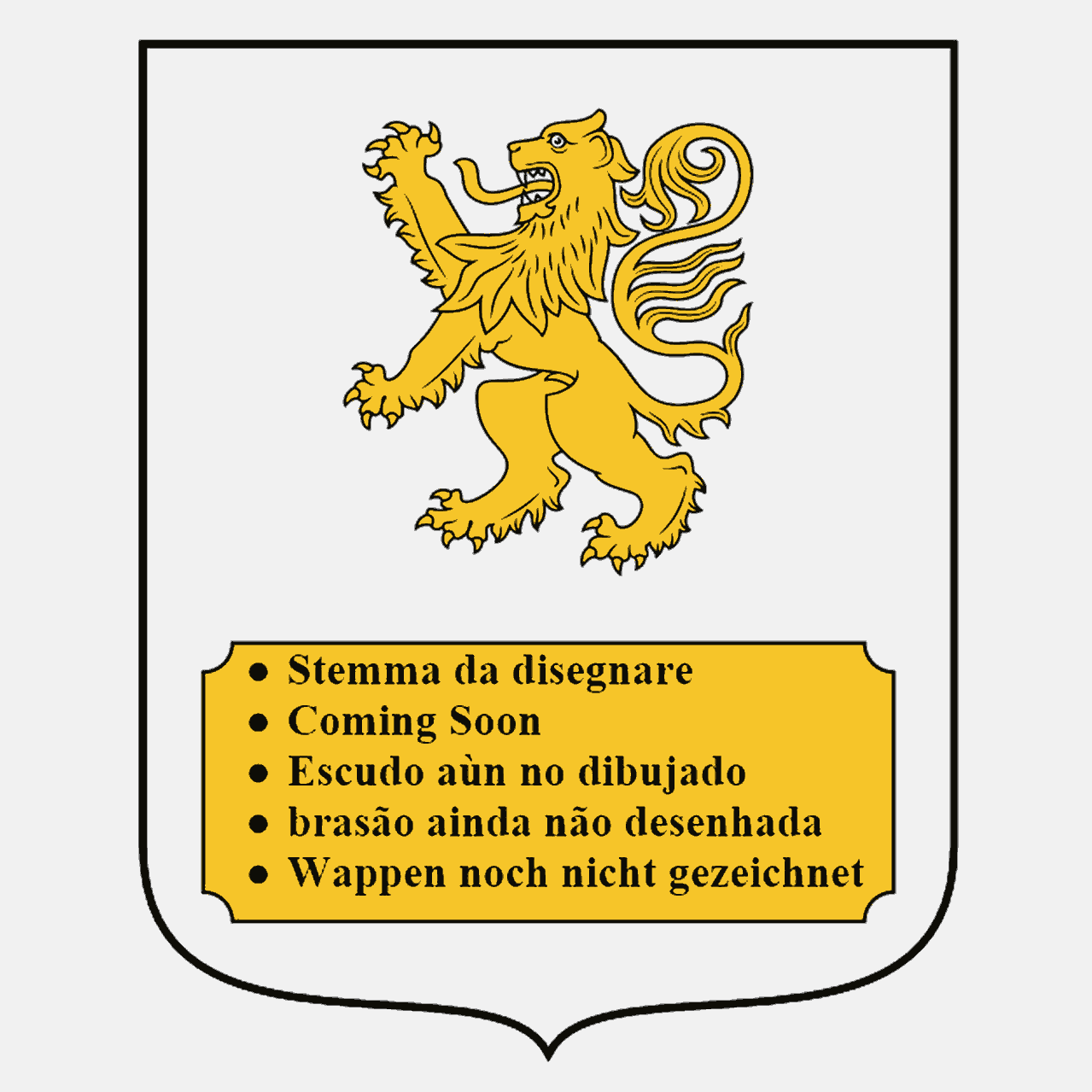 Coat of Arms of family Tonelli del Lion d'Oro