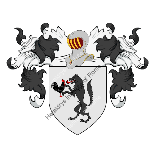 Coat of arms of family Ceballos - ref:20459