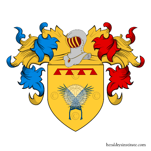 Coat of Arms of family Palmieri della Camera