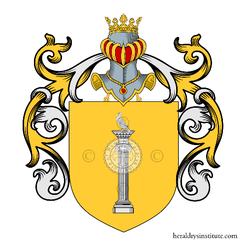 Coat of Arms of family Oliveri d'Acquaviva