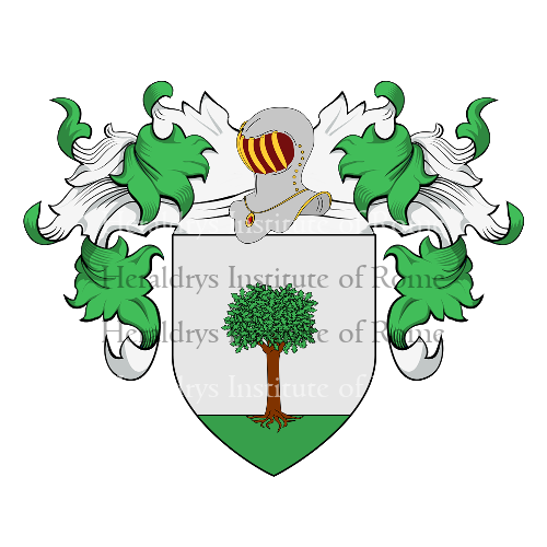 Coat of arms of family Castagnetto