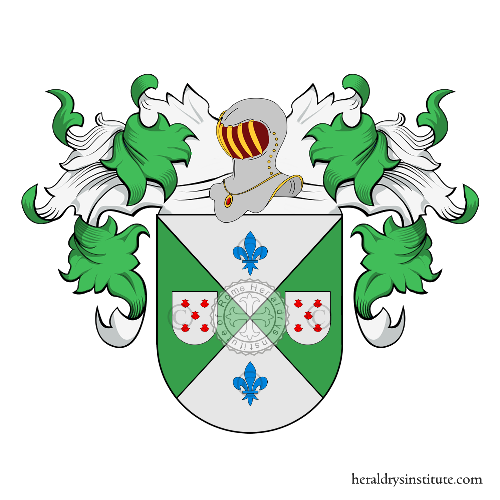 Coat of Arms of family Canas