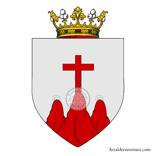 Coat of Arms of family la Rocca