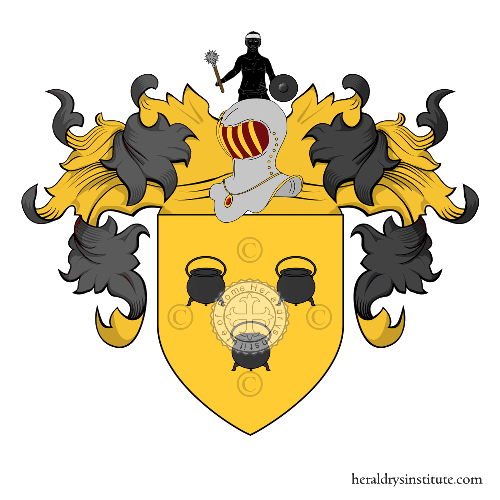 Coat of arms of family Pot