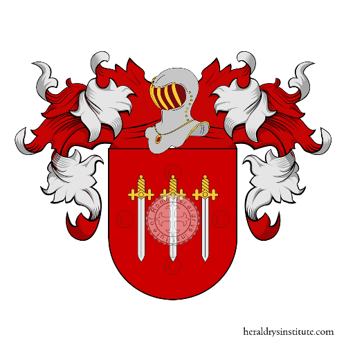 Coat of arms of family Vale