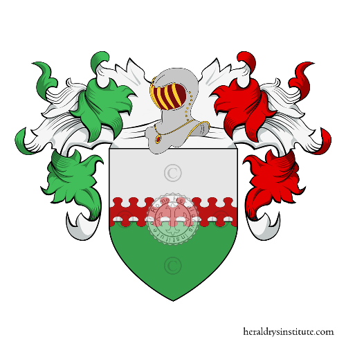Coat of Arms of family de Carlo