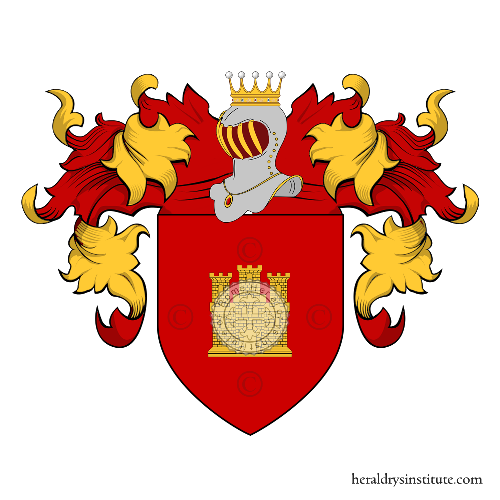 Coat of arms of family Nunez del Castillo