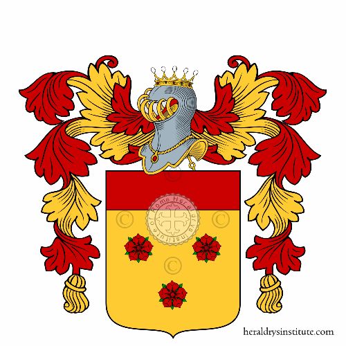 Coat of arms of family Saracco