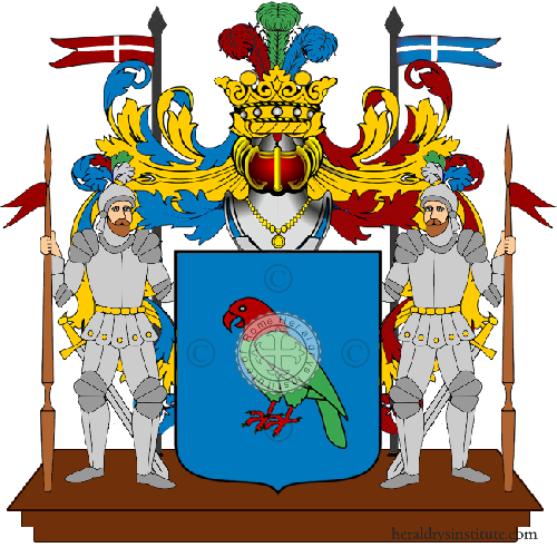 Coat of Arms of family Papagni