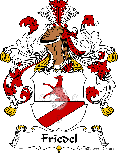 Coat of arms of family Friedel - ref:30515