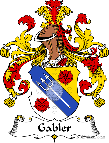 Coat of arms of family Gabler - ref:30541