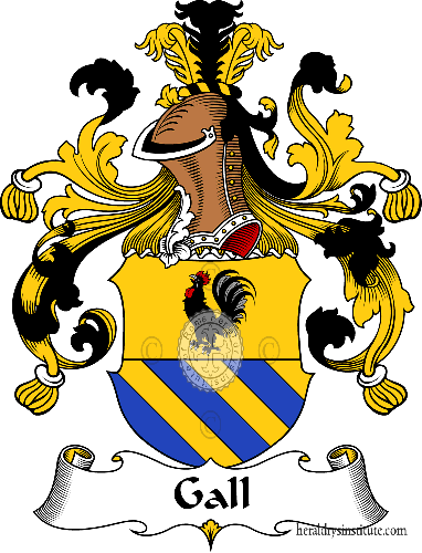 Coat of arms of family Gall - ref:30546