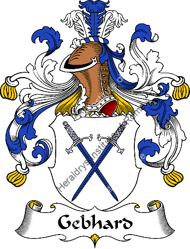 Coat of arms of family Gebhard - ref:30558