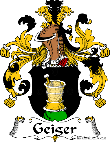 Coat of arms of family Geiger - ref:30562