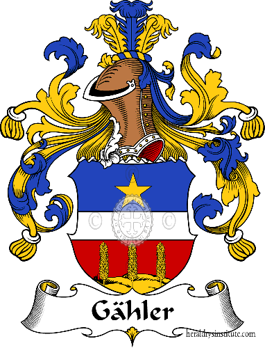 Coat of arms of family Gähler - ref:30610