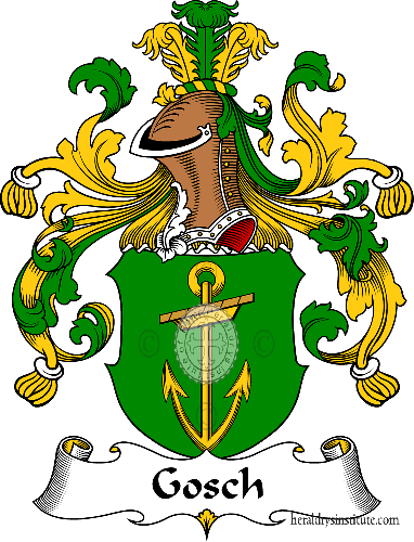 Coat of arms of family Gosch - ref:30626
