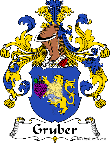 Coat of arms of family Gruber - ref:30663