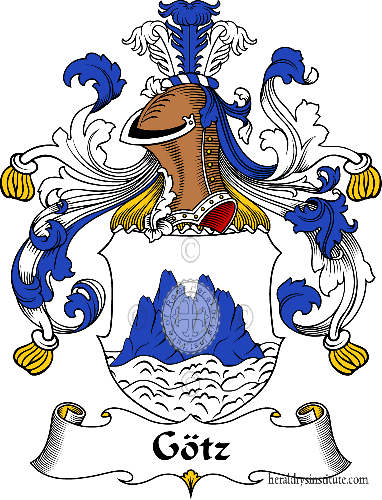 Coat of arms of family Götz - ref:30690