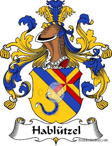 Coat of arms of family Hablützel - ref:30700