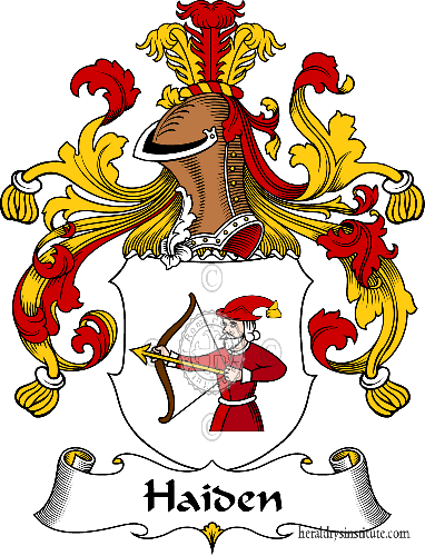 Coat of arms of family Haiden