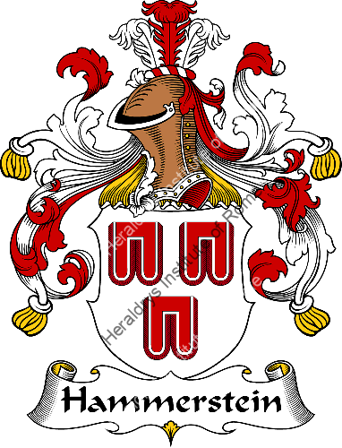 Coat of arms of family Hammerstein - ref:30728