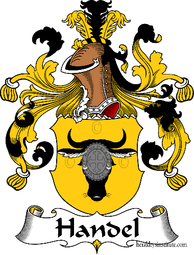 Coat of arms of family Handel - ref:30731