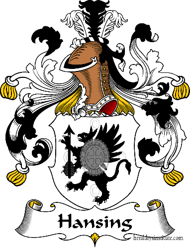 Coat of arms of family Hansing - ref:30736