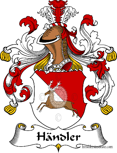 Coat of arms of family Händler - ref:30782