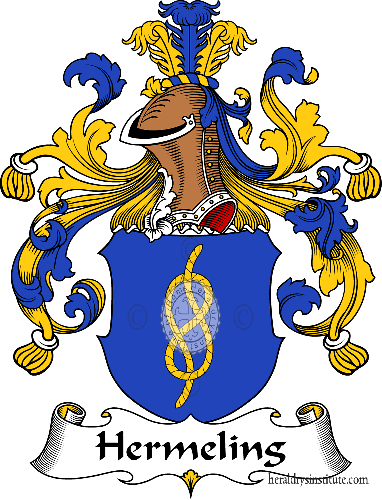 Coat of arms of family Hermeling - ref:30853