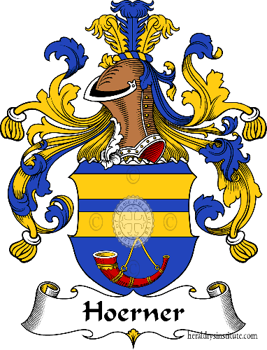 Coat of arms of family Hoerner - ref:30906