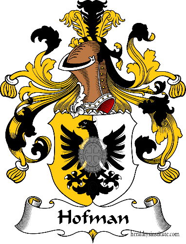 Coat of arms of family Hofman - ref:30914
