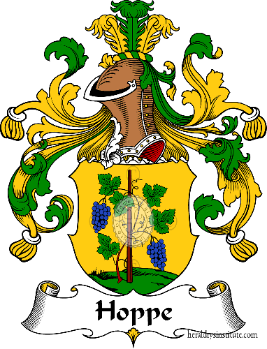 Coat of arms of family Hoppe - ref:30929