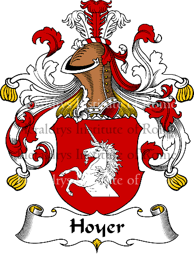 Coat of arms of family Hoyer - ref:30942