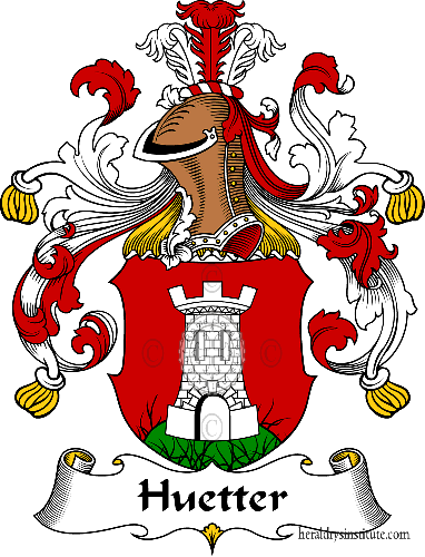 Coat of arms of family Huetter - ref:30948