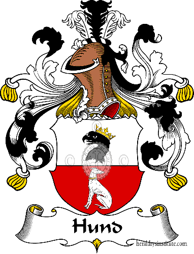 Coat of arms of family Hund - ref:30954