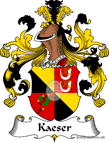 Coat of arms of family Kaeser - ref:30997