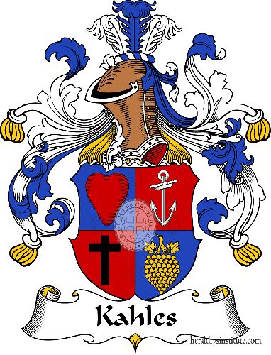 Coat of arms of family Kahles - ref:31000