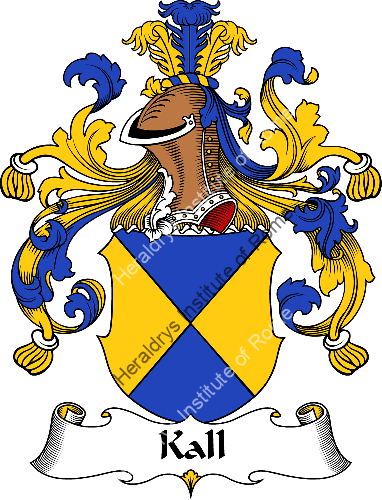 Coat of arms of family Kall - ref:31007