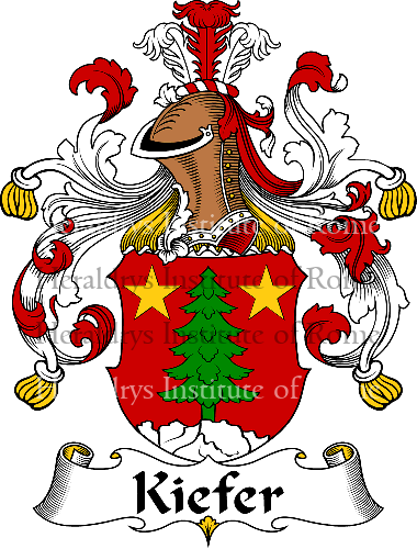 Coat of arms of family Kiefer - ref:31060