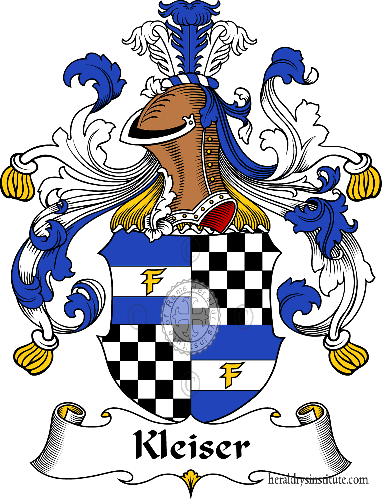 Coat of arms of family Kleiser - ref:31078