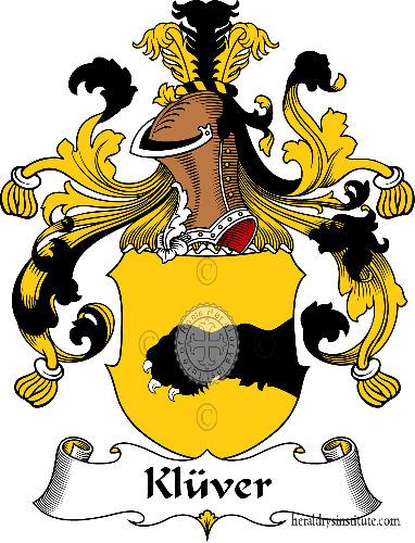 Coat of arms of family Klüver - ref:31092