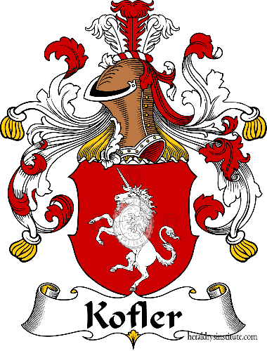 Coat of arms of family Kofler - ref:31106