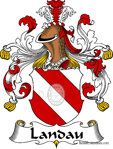 Coat of arms of family Landau - ref:31192