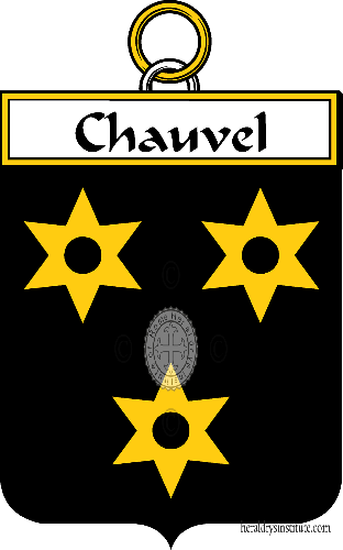 Coat of arms of family Chauvel ref: 34292