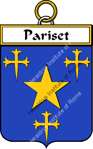 Coat of arms of family Pariset - ref:34801