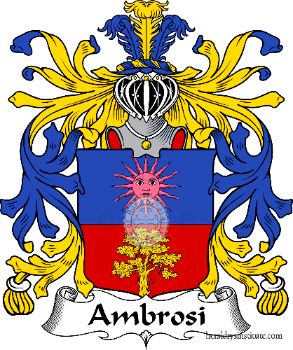 Coat of arms of family Ambrosi