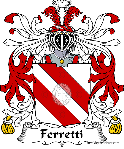 Coat of arms of family Ferretti