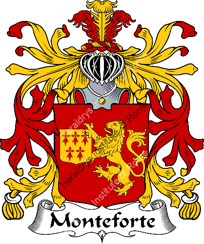 Coat of arms of family Monteforte