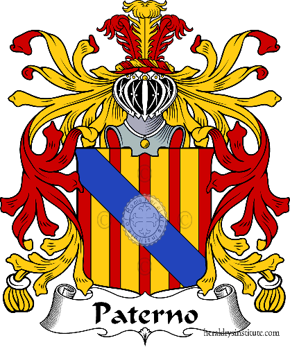 Coat of arms of family Paterno ref: 35695